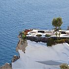 A Table for Two on Santorini by Jeff Symons