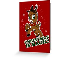 Christmas Is Magic Greeting Card