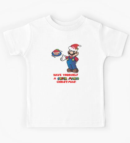 Super Mario Christmas Kids Tee