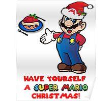 Super Mario Christmas Poster