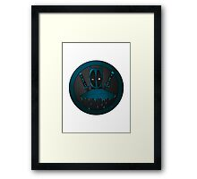 Blue Ninja Framed Print