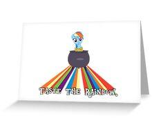 Taste the Rainbow Dash! Greeting Card