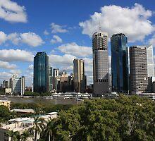 Brisbane City from the Storey Bridge by Keith G. Hawley