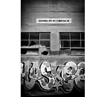 Warning: The Sky Might Fall In. Photographic Print