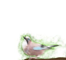 Bird Painting - Wild Jay on a Branch  by astralsid