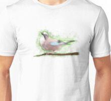 Bird Painting - Wild Jay on a Branch  Unisex T-Shirt