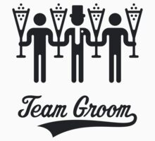 Team Groom (Bachelor Party / Stag Night) Black by MrFaulbaum
