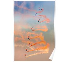 RAF Falcons parachute display team Poster