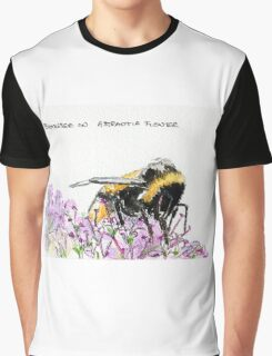 Bumble Bee browsing on astrantia flower Graphic T-Shirt