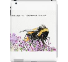 Bumble Bee browsing on astrantia flower iPad Case/Skin