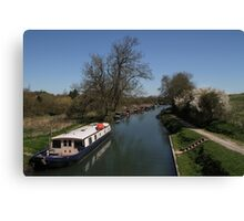 View From A Bridge - Kennet and Avon Canal Canvas Print
