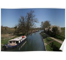 View From A Bridge - Kennet and Avon Canal Poster