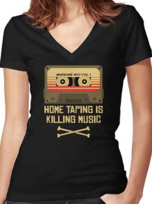 Guardians of the Music Industry Women's Fitted V-Neck T-Shirt
