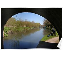 Quiet Fishing Spot - Kennet and Avon Canal Poster