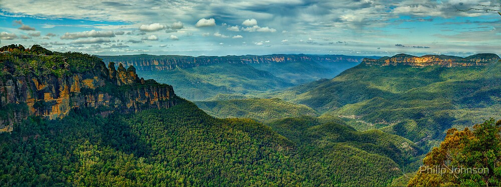 Beauty - Jamison Valley, Blue Mountains World Heritage Area, Katoomba NSW - The HDR Experience by Philip Johnson