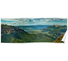 Beauty - Jamison Valley, Blue Mountains World Heritage Area, Katoomba NSW - The HDR Experience Poster