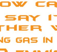 How can I say it another way? Passing gas in bed is a Co2 emission! Sticker