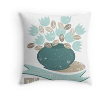 blue tulips for mum Throw Pillow