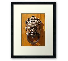 TUSCAN DOOR DECOR  - THE GROWL Framed Print