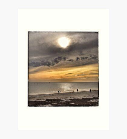 Sunset at Glenelg Series, No 10 Art Print