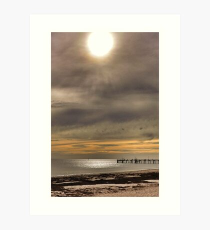 Sunset at Glenelg Series, No 11 Art Print