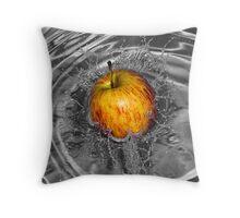 Apple Splash Throw Pillow