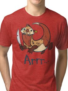 Switch the Pirate Otter Tri-blend T-Shirt