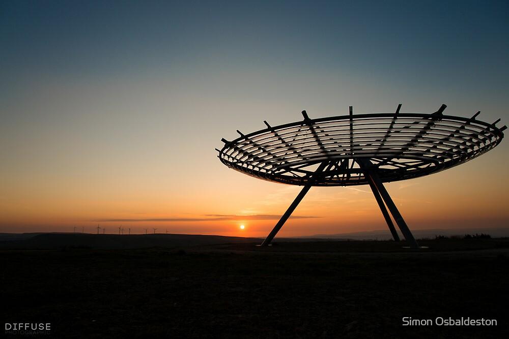 Haslingden Halo at Sunset by Simon Osbaldeston