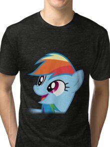 Rainbow Dash Happy Tri-blend T-Shirt