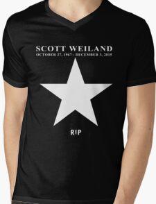 Scott Weiland - Rest In Peace - Stone Temple Pilots Four Logo Mens V-Neck T-Shirt