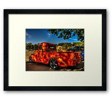 Orange Hauler Framed Print