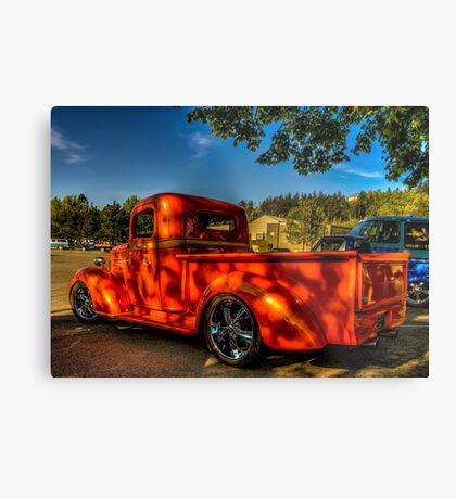 Orange Hauler Metal Print