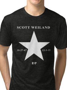 Scott Weiland - Rest In Peace - Stone Temple Pilots Four Logo Tri-blend T-Shirt