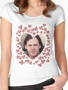 heart shaped jeff mangum  Women's Fitted Scoop T-Shirt
