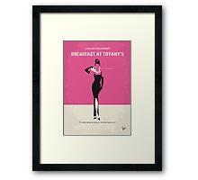 No204 My Breakfast at Tiffanys minimal movie poster Framed Print