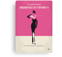 No204 My Breakfast at Tiffanys minimal movie poster Canvas Print