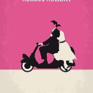 No205 My Roman Holiday minimal movie poster by Chungkong