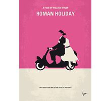 No205 My Roman Holiday minimal movie poster Photographic Print
