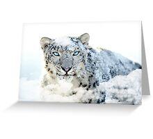 Snow leopard print Greeting Card