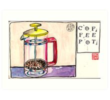 EDiM #8  draw a coffeepot Art Print
