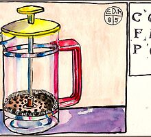 EDiM #8  draw a coffeepot by Evelyn Bach