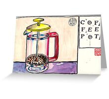 EDiM #8  draw a coffeepot Greeting Card