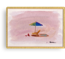 A Place to Relax - watercolor painting at Carpenteria Canvas Print