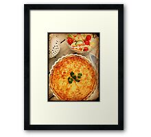 3 Cheese Spinach and Mushroom Quiche Framed Print
