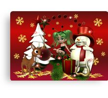 A Magical Jolly Christmas Canvas Print