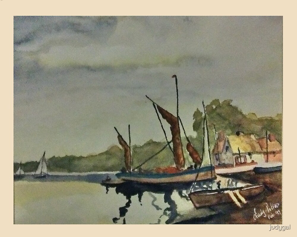 Down By The Lake - Watercolour by judygal