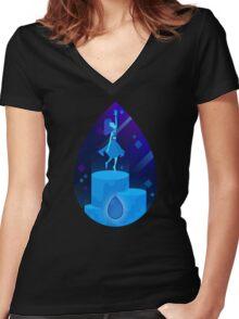 Steven Universe - Lapis Lazuli Women's Fitted V-Neck T-Shirt