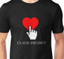 Click Heart Unisex T-Shirt