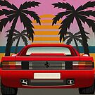 Ferrari Testarossa - Miami Sunset by Mixtape