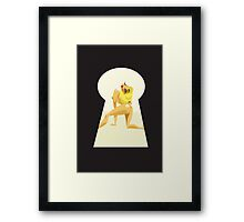 Pin Up Act Framed Print